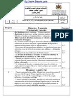 تصحيح الإمتحان الوطني للبكالوريا الدورة العادية 2011 مادة علوم الحياة والأرض ( الترجمة الإسبانية ) شعبة علوم الحياة والأرض.pdf