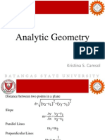 Analytic Geometry & Calculus