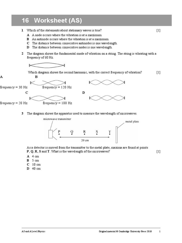 Worksheet16c Waves Frequency