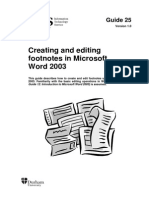 Word Footnotes 2003