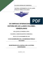 XIII SIMPOSIO INTERNACIONAL DE HISTORIA DE LOS LLANOS COLOMBO.doc