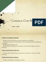 CCS Grade 3 Math Standards