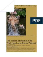 The World of Martial Arts That Has Long Since Passed