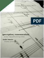[perception, rememoration] André Mestre