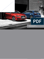 Audi A3 and S3 3-door and Sportback (UK)