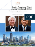 FOA White Paper - Why You Should Consider a Direct Investing Investment Family Office Bass