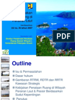 Kebijakan Penataan Ruang di Perairan Laut berdasarkan UU Nomor 26 Tahun 2007