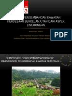 Konsep Pengembangan Kawasan Perdesaan Berkelanjutan dari Aspek Lingkungan