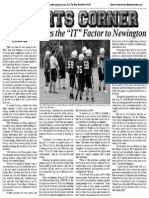 """Hennessy Brings The """"IT"""" Factor To Newington Football"""