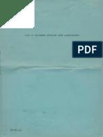 List of Equipment Supplied With AMORC Laboratorium (1952)