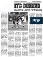 Defensive Errors A Concern For Wilkinson
