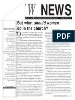 But What Should Women Do in the Church