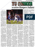 Red Zone Execution Hampers Indians