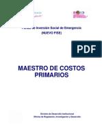 Guía de Costos Nº6 (19ABR2013) - Catàlogo de Costos Unitarios Primarios.pdf