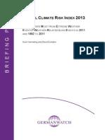 2013 Global Climate Risk Index