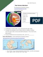 plate tectonics web quest student 123
