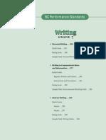 writing gr  7 performance standards