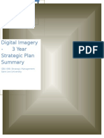 Digital Imagery - 3 Year Strategic Plan Summary - Daniel McLaughlin
