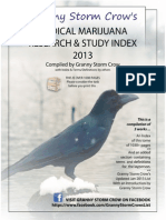 Master Source of peer reviewed cannabis studies and journal articles - Complete Index Jan 2013