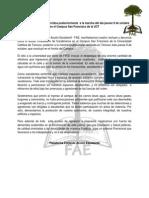 Frente a los hechos ocurridos posteriormente  a la marcha del día jueves 9 de octubre.pdf