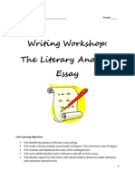 literary analysis essay - student packet