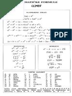 Matematičke formule