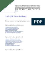 Sap Qm Training Video Tutorial