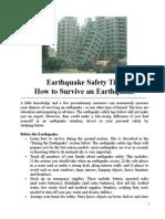 Survival for Earthquake