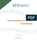 Draft Australian Curriculum Technologies - February 2013