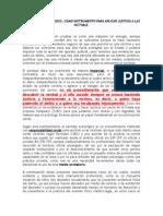 EL PERITAJE PSICOLÓGICO COMO INSTRUMENTO PARA APLICAR JUSTICIA A LAS VICTIMAS. 3O ENERO 2012..doc