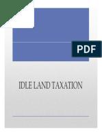Orientation Idle Land Taxation