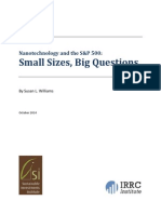 Susan L Williams - October 2014 - IRRC Insitute n Sustainable Investments Institute - Nanotechnology and the S&P 500 ~ Small Sizes, Big Questions