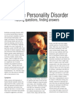Borderline - NIMH - Borderline Personality Disorder - Raising Questions, Finding Answers