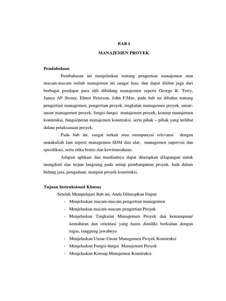 Materi manajemen proyek konstruksi pdf
