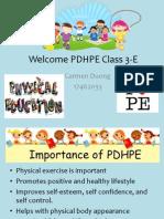 welcome pdhpe class 3-e