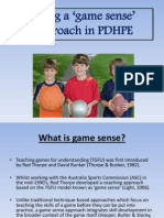 using game sense in pdhpe
