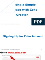 Creating a Simple Database with Zoho Creator
