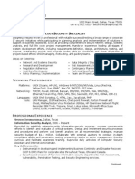 It Security Sample Resume