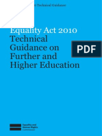 Technical Guidance on Further and Higher Education 27 Nov 2012