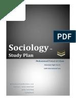 Sociology - Study Plan for CSS