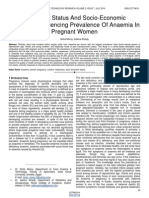 Nutritional Status and Socio Economic Conditions Influencing Prevalence of Anaemia in Pregnant Women