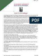 Anderson, Robert - Letter From Bullinger (a)