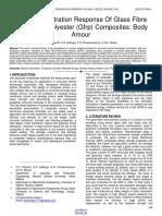 Ballistic Penetration Response of Glass Fibre Reinforced Polyester Gfrp Composites Body Amour