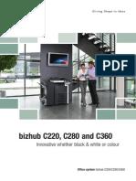 Brochure Bizhub C220 C280 C360