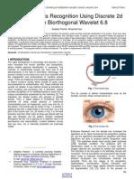 Human Eye Iris Recognition Using Discrete 2d Reverse Biorthogonal Wavelet 68