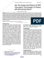 Study to Evaluate the Scope and Nature of Wit Wireless and Information Technology in Patient Health Monitoring Sector