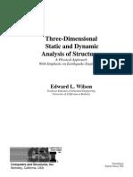 Three Dimesional Static & Dunamic Analysis of Structure-Ed Wilsion