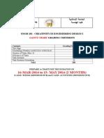 ENGR 101 Gantt Chart Grading Criterion
