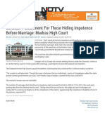 Hiding Impotence Before Marriage_ Madras High Court