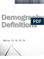 Demography Definitions